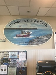 Best Clam Chowder is at Haddad's Ocean Cafe
